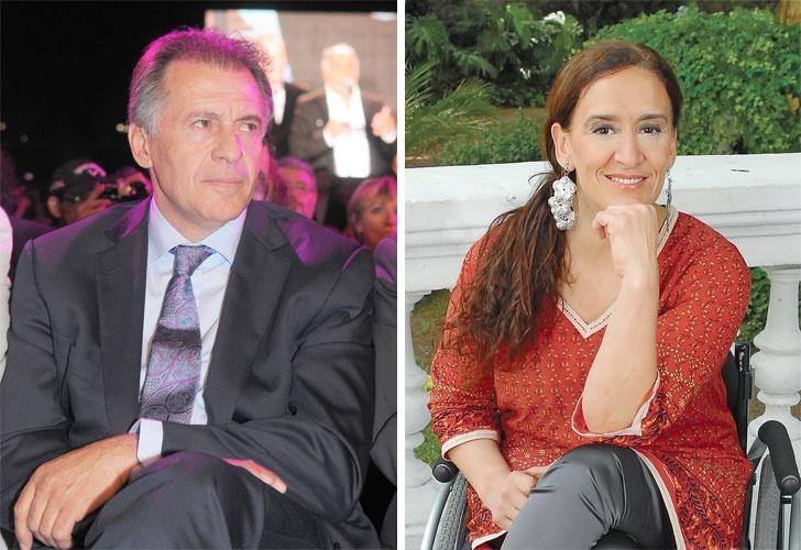Dos caras del juego: Cristóbal López y Gabriela Michetti. | Foto: Cedoc