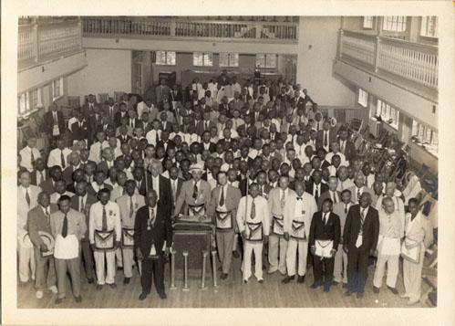 Miembros de La Gran Logia Prince Hall de Louisiana, decade de 1950.