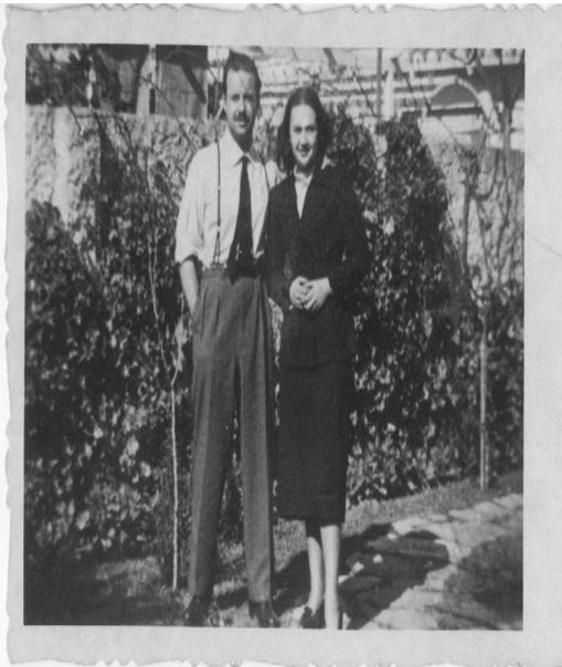 Carlos Maggi y su esposa, la escritora María Inés Silva Vila (1953).