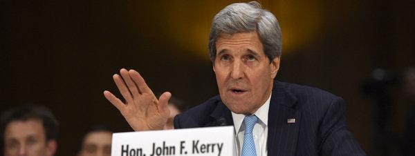 John Kerry en Washington durante su intervención sobre las acciones contra el Estado Islámico AP