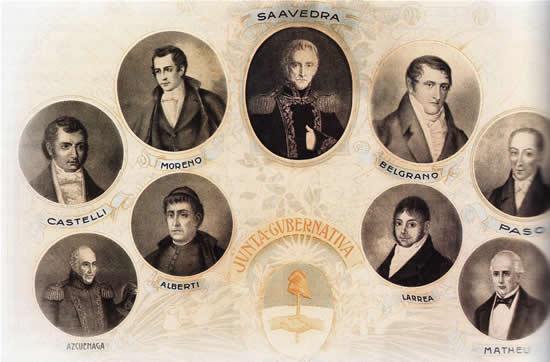 Junta de Mayo de 1810 - Primer Gobierno.