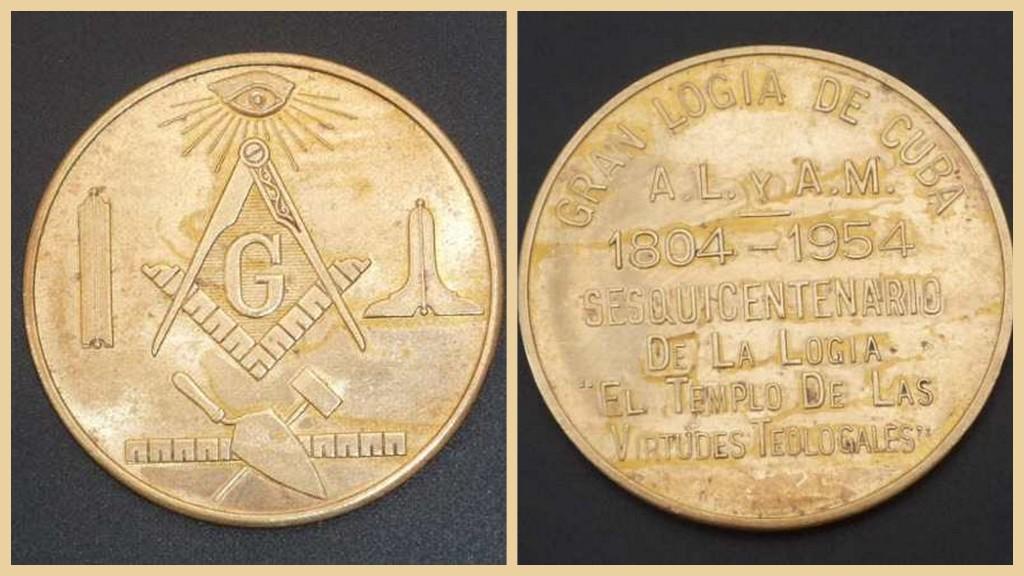 Medalla Logia Masonia Templo De Las Virtudes Teologales.