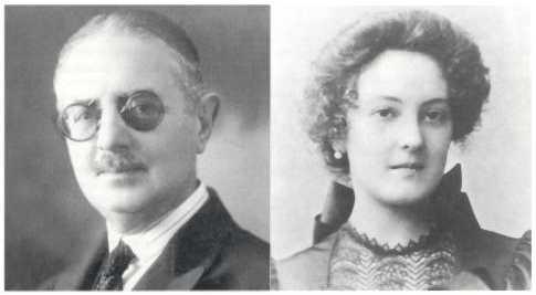 Salvador Allende Castro y  Laura Gossens Uribe.