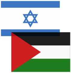 Bandera Israel y Palestina