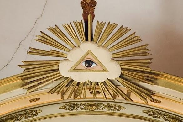 """En el Delta Luminoso aparece el ojo abierto, el """"ojo que todo lo ve""""."""