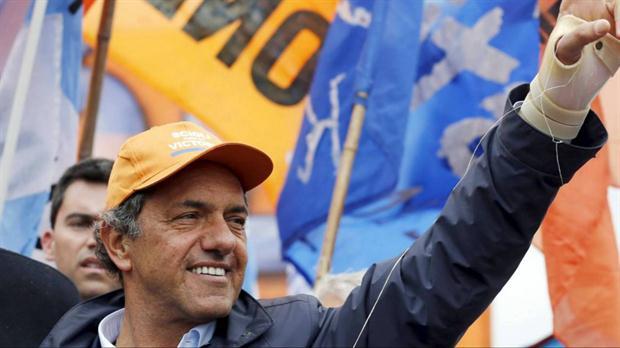 Daniel Scioli, durante un evento de campaña en Quilmes, en las afueras de la ciudad de Buenos Aires, el 20 de octubre.