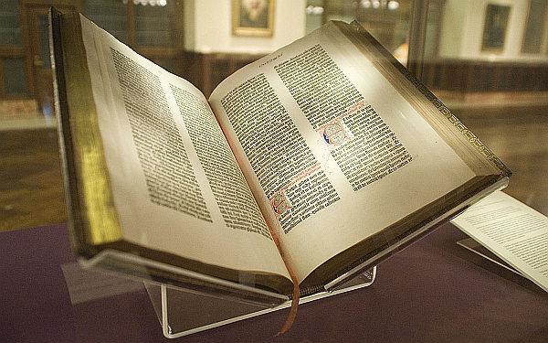 Copia de la Biblia Gutenberg de la Biblioteca Pública de Nueva York.