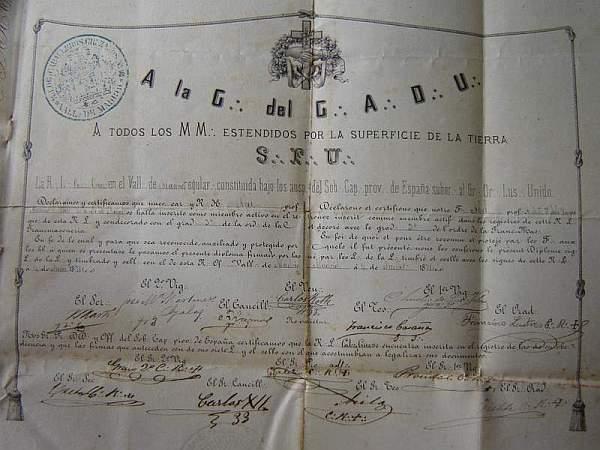 Nótese la tradicional firma de Martí como Secretario, primera desde la izquierda.