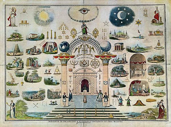 Símbolos masónicos del siglo XIX.