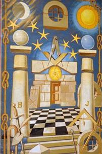 """Las columnas """"J"""" y """"B"""" se vinculan con la simbología de los dos solsticios, y por tanto con las esferas ascendentes-descendentes del ciclo anual."""