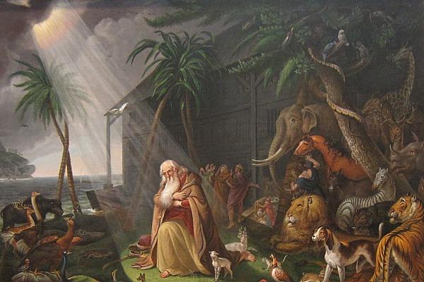 La historia de Noé aparece en la mayoría de las antiguas constituciones manuscritas.