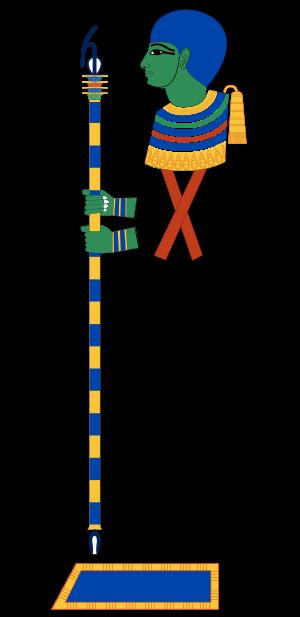 Ptah: Dios de la creación, las artes, la fertilidad y los artesanos.