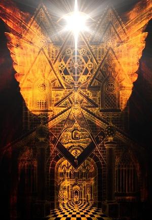 Liturgia y simbología masónicas nos vinculan en el formidable desafío que supone la construcción del simbólico Templo erigido a la Gloria del Gran Arquitecto del Universo, más allá de tiempo y espacio.