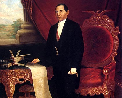 Pintura al oleo de Benito Juárez.