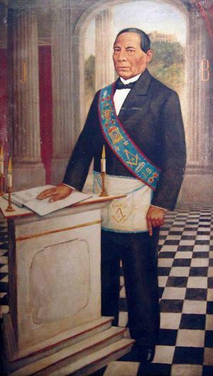 Juárez fue un francmasón que perteneció al Rito Nacional Mexicano, y en el que llegó a obtener el grado Noveno, equivalente al grado 33° del Rito Escocés Antiguo y Aceptado